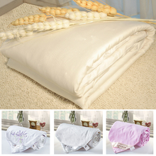 Jiu Meng Er brand silk fabric silk quilt baby comforter set with top matching curtains