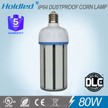 High lighting greenergy lamp smd2835 led corn bulb 80w e40 ul cul dlc approved for US market