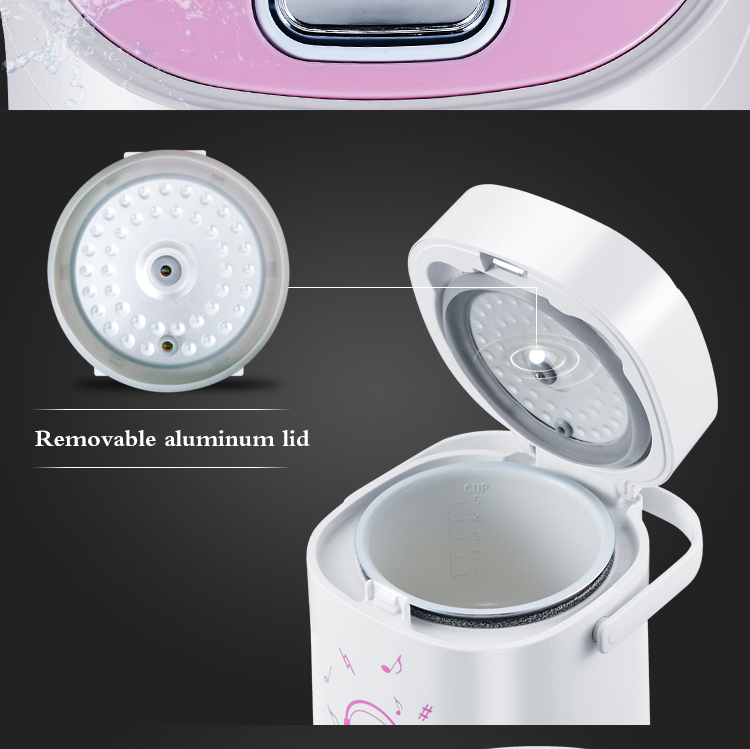 new design small mini electric rice cooker with non- stick inner pot