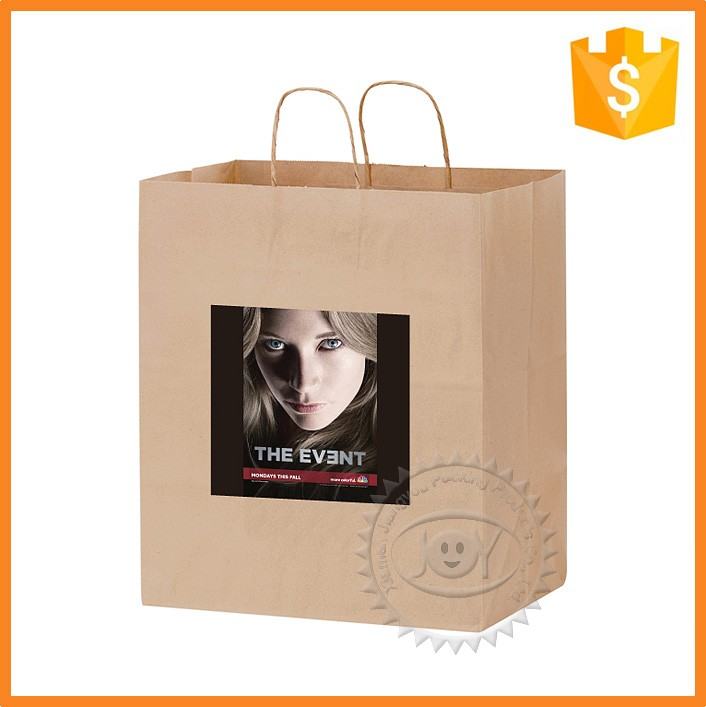 Top sell high quality shopping kraft paper bag with logo print