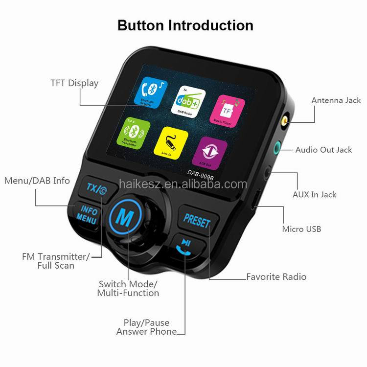 2017 Newest FM Transmitter stereo audio digital radio universal in car dab receiver 2017