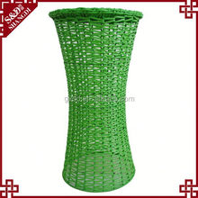 S.D export high quality PE rattan green cheap high bar stools