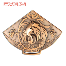High Quality Custom 3d Emboss Triangle Medal