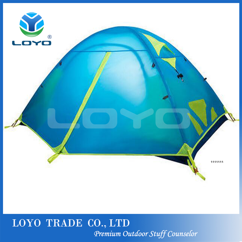 Aluminium frame polyester 1-2 person dome super light camping tent