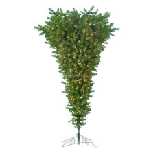 6ft decorated upside down christmas tree with warm-white LED light outdoor lighted christmas trees
