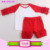 Hot Sale Summer Girls Matching Clothing Set Outfit 2 Pieces ruffle raglan sleeve shirt and shorts Boutique Sets