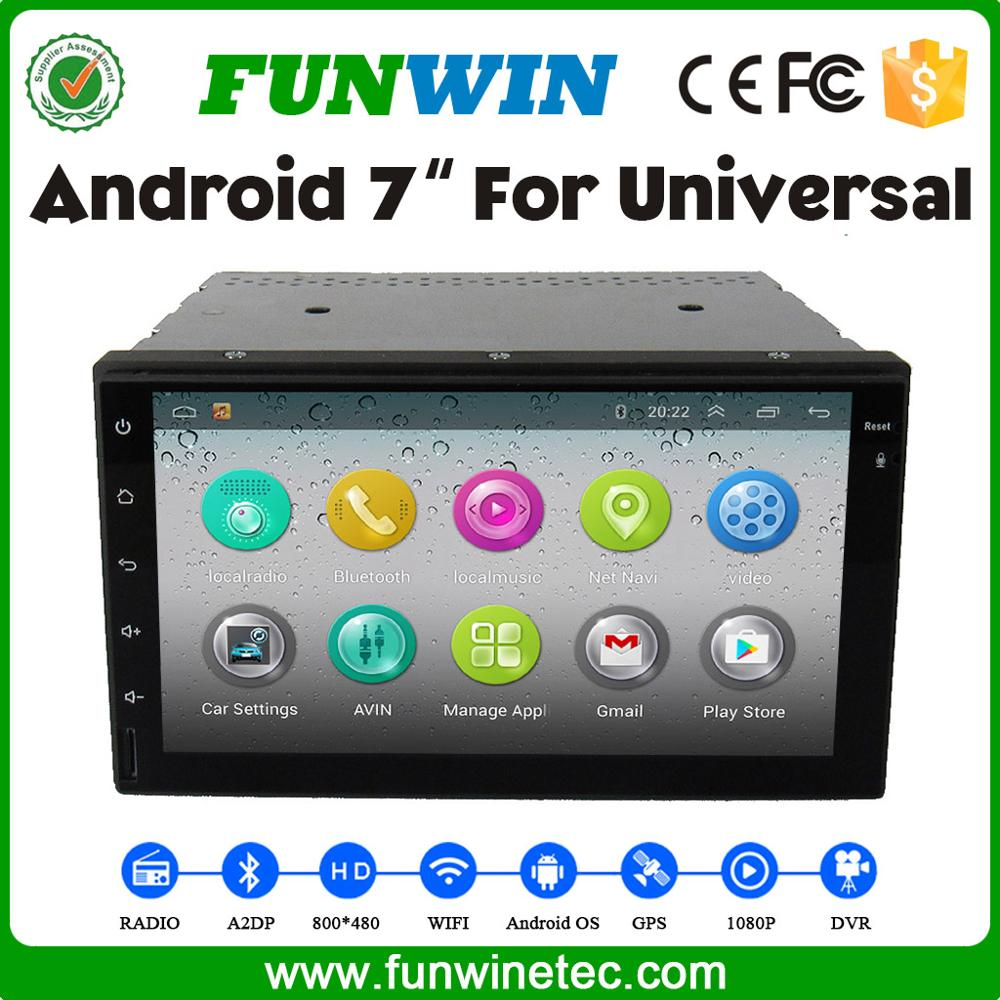 "Funwin 7"" Universal 2 Din Car Dvd Player With Gps For Universal"