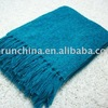 Solid Rayon Chenille Rayon Woven Throw