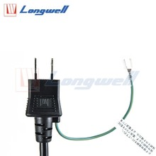 Power extension with flat plug 10a 250v Italy ac slow cooker power cord