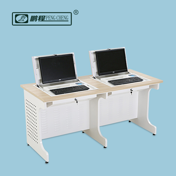 Ergonomic Fixing School Furniture Double Sided Computer Desk