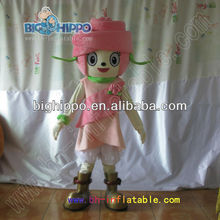 Pink Rose Flower mascot costume