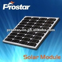 china mono solar cell panel/solar module kits 50w