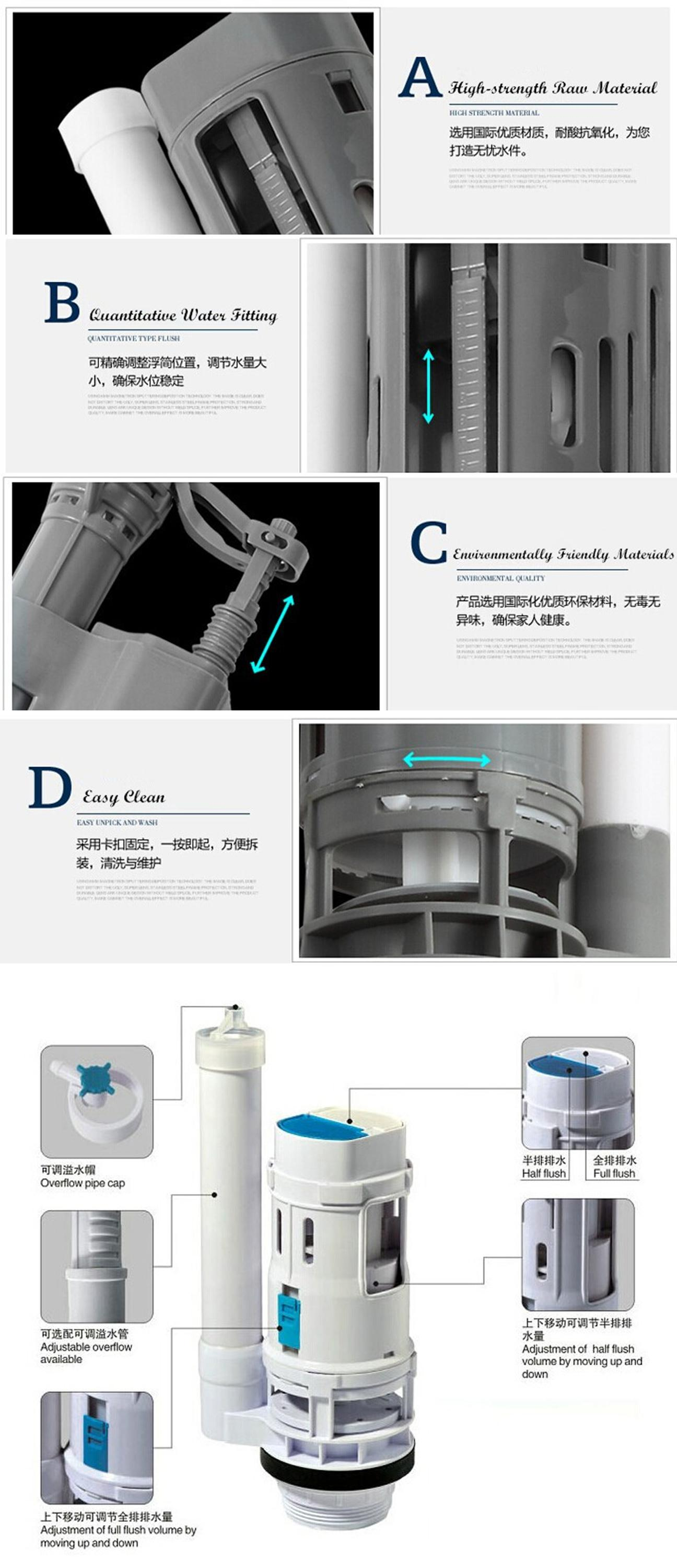 043A Hot sale ultra slim design pp toilet water cistern tank
