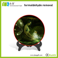 Elegant plate decorative table ornaments beautiful fairy sex nude girls picture for home use
