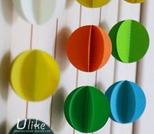 3d wall paper home decor circle paper garland paper garland party decorations