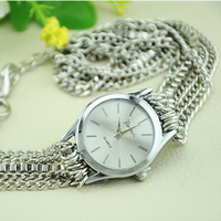 New Arrival Silver Ladies Quartz Watch Link with Metal Chain Watch Cheap