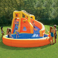 2014 banzai typhoon twist inflatable water slide