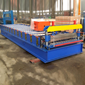 Cheaper auto curved boltless c10 c21 color steel lght weight composite contruction roof panel roll forming machine