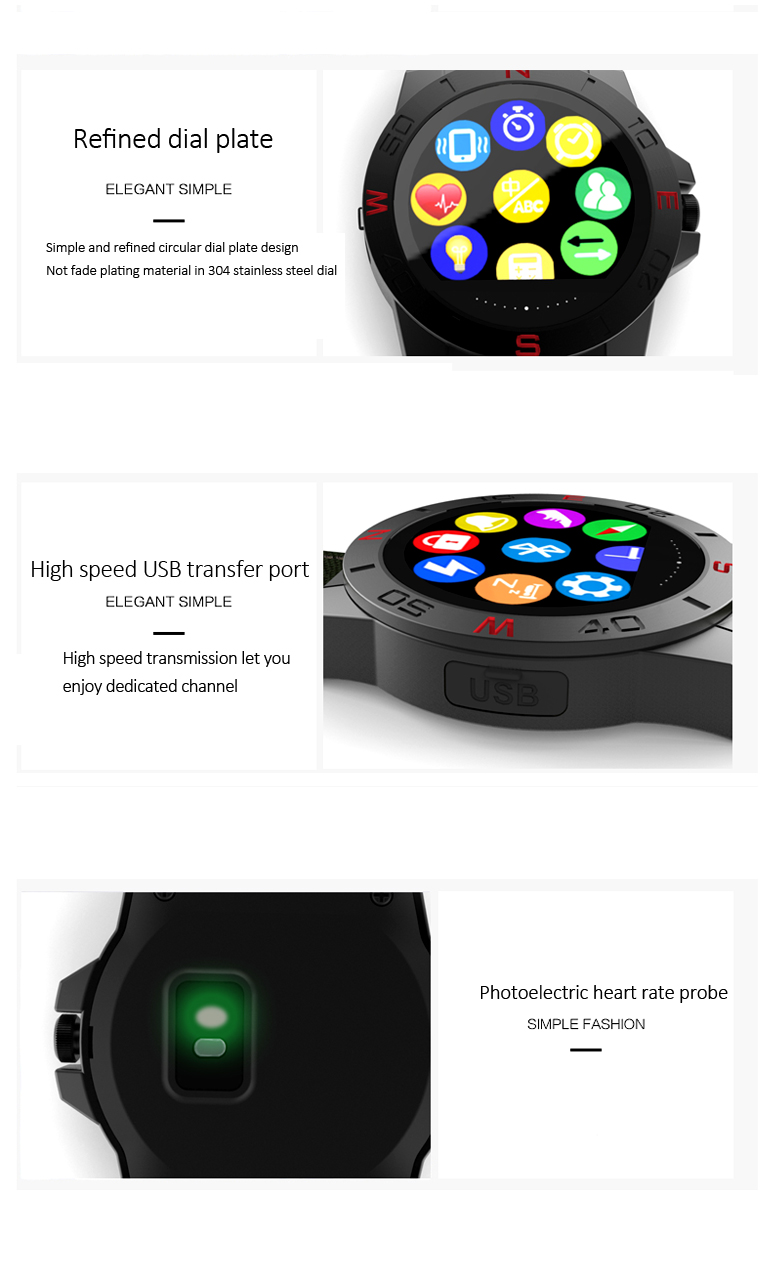 "1.22"" smart waterproof heart rate monitor wristwatch, sleep quality monitoring pulse rate wrist watch"