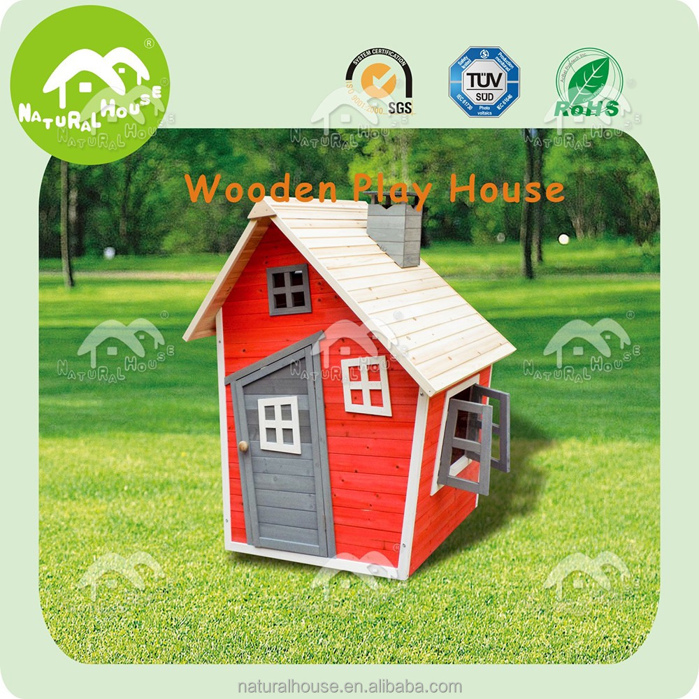 Safety ourdoor wholesale wooden playhouse for kids