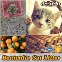Highly active absorbent bentonite clay easy scooping cat litter