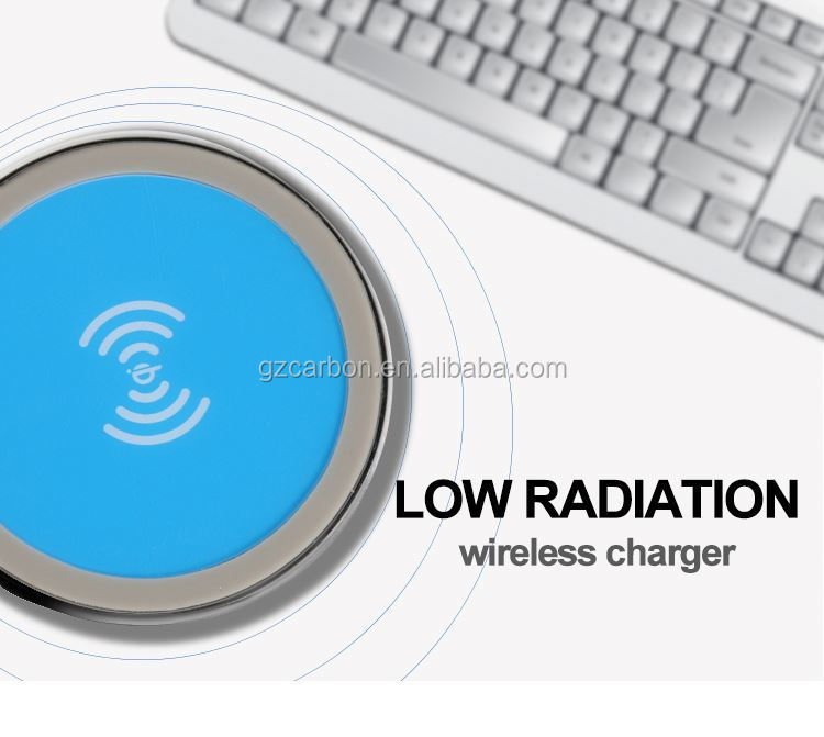 Wireless charger on desktop, automatic mobile battery charger