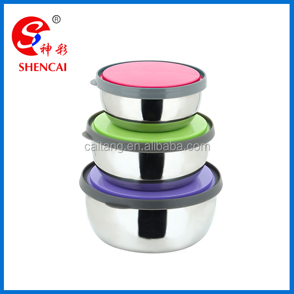 Take away Stainless steel round food bowl/food storage container