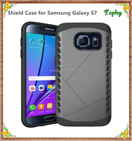 2 in 1 mobile phone TPU shock proof slim armor case hard cover for samsung galaxy s7 case plastic
