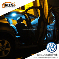DC12V White PCB roof 5050 Led Panel interior Dome Light Lamp, Auto Car Reading Interior Lamp for VW Golf 6