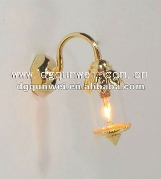Dollhouse Miniature Wall Lamp Light Brass Princess Working 12V