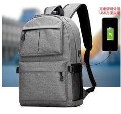 Hot Selling high quality men School Vintage Canvas Backpack With USB Port
