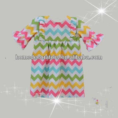 hot multicolor Easter chevron dress easter bunny Chevron Peasant dress Girls chevron dress