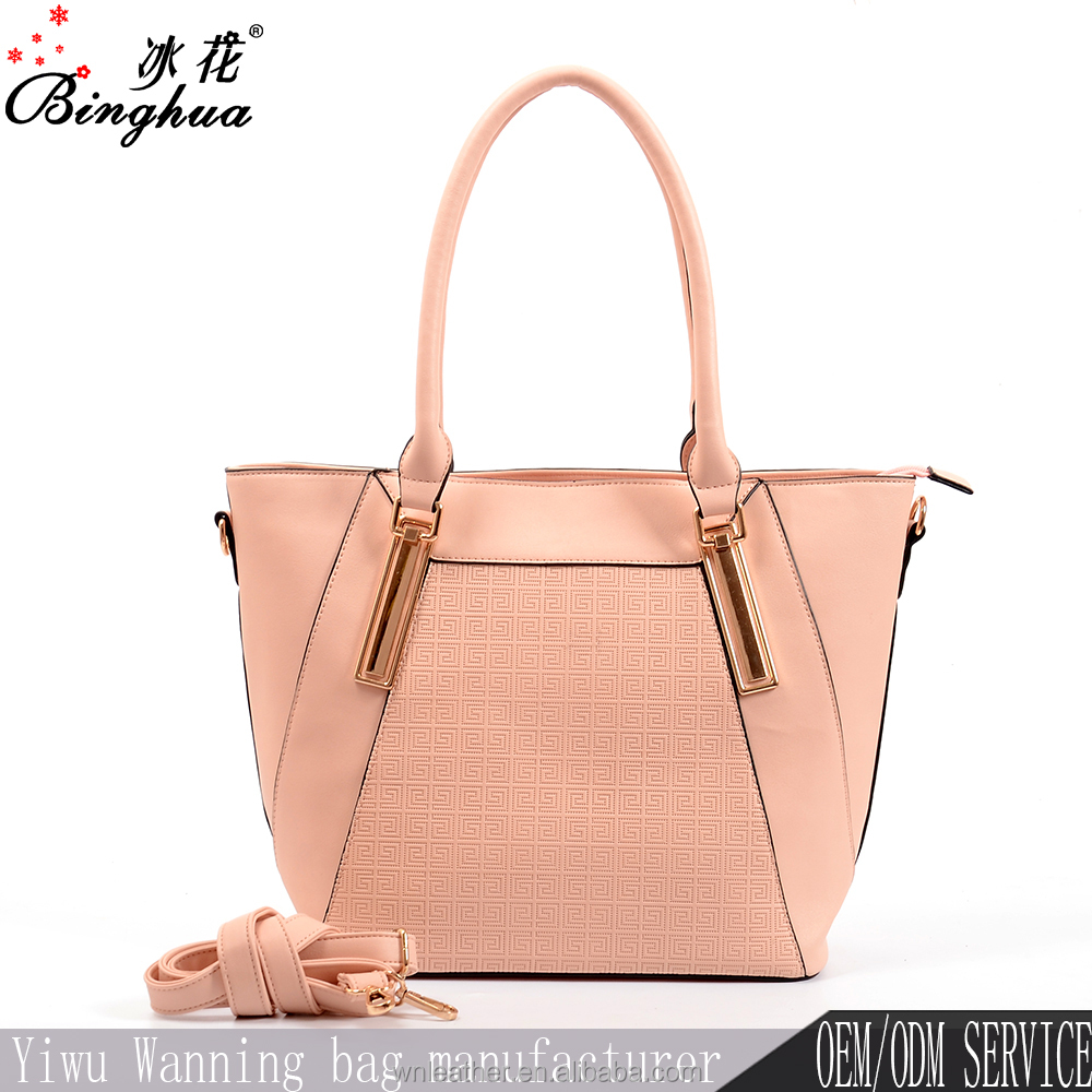 Yiwu factory wholesale no name handbags Italy, womens leather handbags with shoulder strap