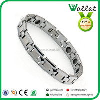 2015 hot sale germanium tungsten i love you more bracelet for bodybuilding