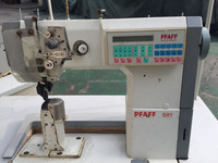 post bed high speed industrial used pfaff sewing machine for sale model 591 574 for shoe manfacturer
