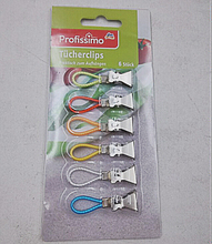 6pc easy hang up stainless steel small light weight table cloth tablecloth clip