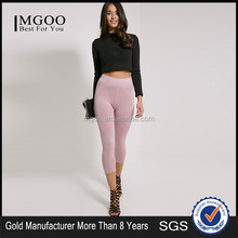 Hot Sale Custom Tight Silk Milk Plain Sexy Pants Women Sportwear Basic Cropped Jersey Leggings