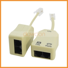 RJ11 ADSL DSL Modem Splitter Filter with Cables