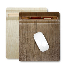 SAMDI Wood Gaming Mouse Pad / Mat with Veneer Cork mats Non Slip for all kinds of Mouse and with Pen Holder