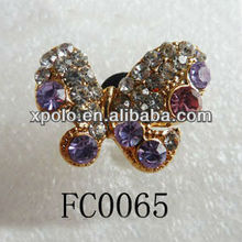 Multicolor Crystal Butterfly Shape Earphone Jack Dust Cap Plug For Iphone 5s Accessories