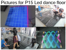 led glass screen wedding stage dance floor panel