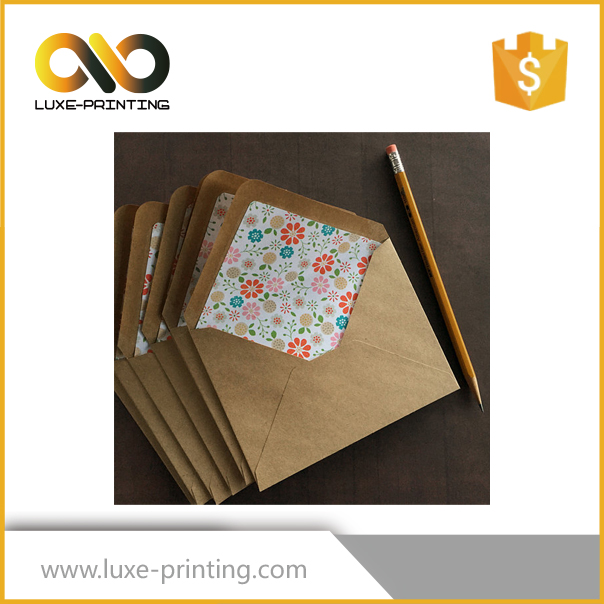 Tailor-made lots of kraft a5 paper mailing envelope