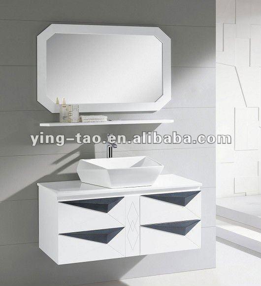 Topper moderno angolo singolo ripiano angolo nero vanit lavandino del bagno mensola angolare - Armadietto angolare bagno ...