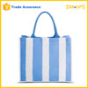 Wholesale Factory Price Vertical Stripe Large Cotton Beach Bag For Towel