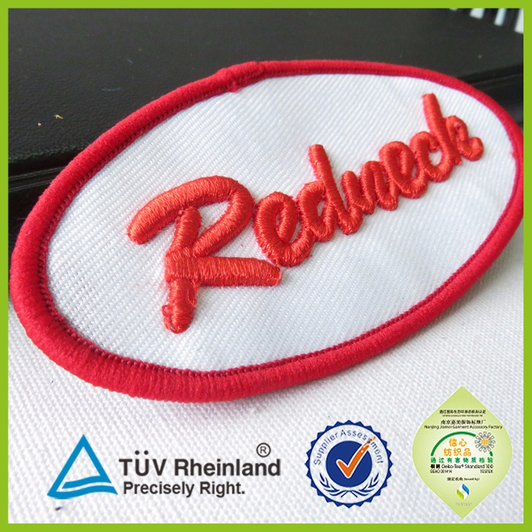 brands logo custom made embroidery patch 2015 3D embroidered logo