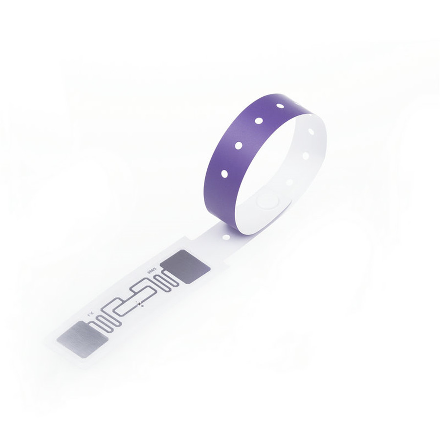 one time use disposable paper bracelets uhf chip wristbands rfid paper wristband for events