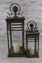 New Design Antique Candle Lantern Wholesale Promotion Outdoor Steel Lantern