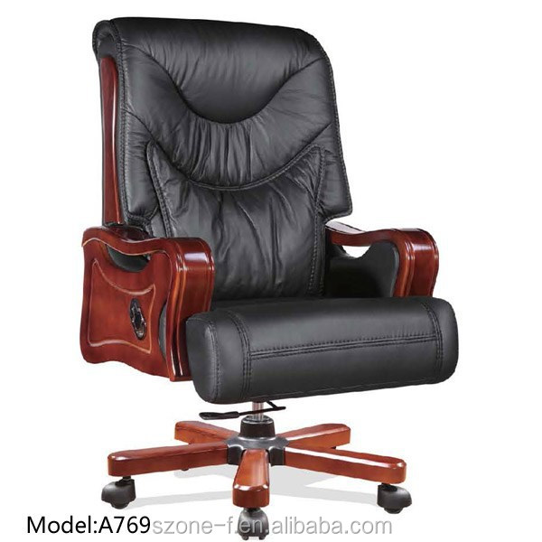 Executive Office Chair A769 /Double Function Cow Leather