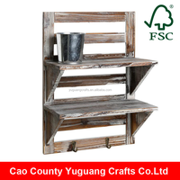 Yuguang Crafts Rustic Wood Wall Mounted Organizer Shelf