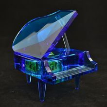 crystal music box with high-end crystal material mini digital music box